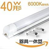 led蛍光灯一体型 40W形 器具一体型120cm led器具一体管昼光色 照明の新提案 1本入り