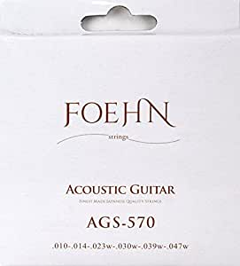 FOEHN AGS-570 Extra Light 80/20 Bronze アコギ弦 ×3セット