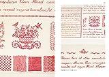 赤い刺繍とアンティーク・テキスタイル: ヨーロッパの古いサンプラーと子どものための図案 画像