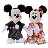 ディズニー ブライダル ミッキーマウス&ミニーマウス 着物 ぬいぐるみ 高さ約23cm