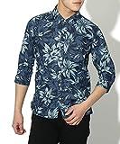(リピード) REPIDO デニムシャツ メンズ デニム アロハシャツ 7分袖 ダークインディゴ(A) XLサイズ