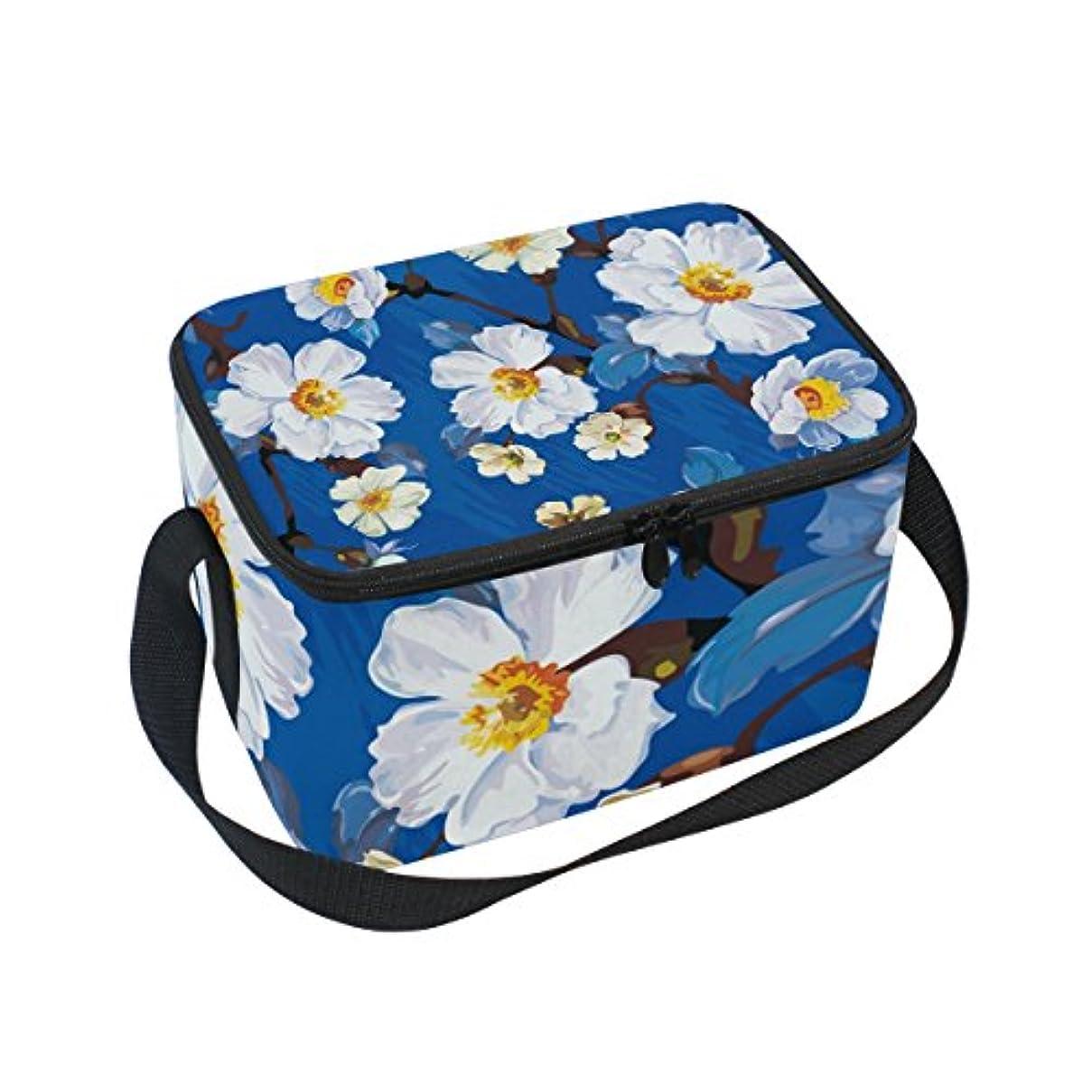 佐賀軍隊災害クーラーバッグ クーラーボックス ソフトクーラ 冷蔵ボックス キャンプ用品 油絵 白い花 美しい 保冷保温 大容量 肩掛け お花見 アウトドア