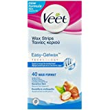 Veet Easy-Gelwax Wax Strips – Sensitive Skin (40 pack)