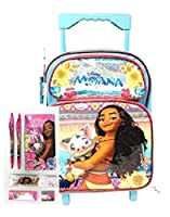 "Disney Moana 12"" Rolling Backpack and Pink Stationery Set - [並行輸入品]"