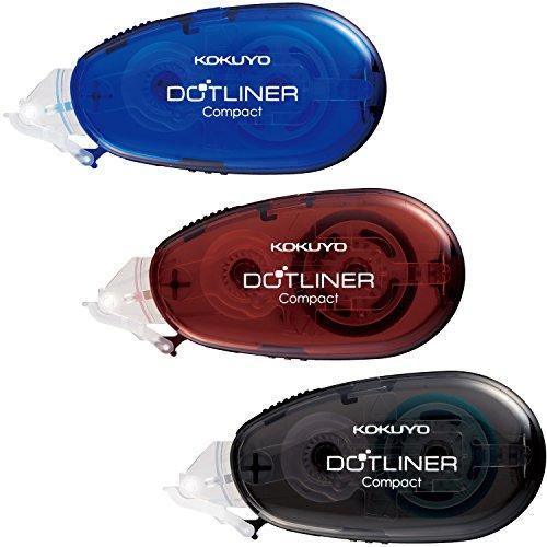 コクヨ テープのり のり ドットライナー コンパクト 本体 3色セット タ-DM4500-08BMSSET