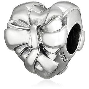 [パンドラ] PANDORA Brilliant Heart Bow チャーム (シルバー) 正規輸入品 797303