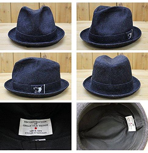 (ステュディオ・ダ・ルチザン)STUDIO D'ARTISAN 帽子 デニム ハット DENIM HAT 7405 フリーサイズ インディゴ