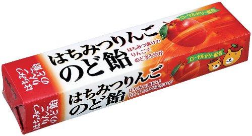 ノーベル はちみつりんごのど飴 スティック 10粒×10個