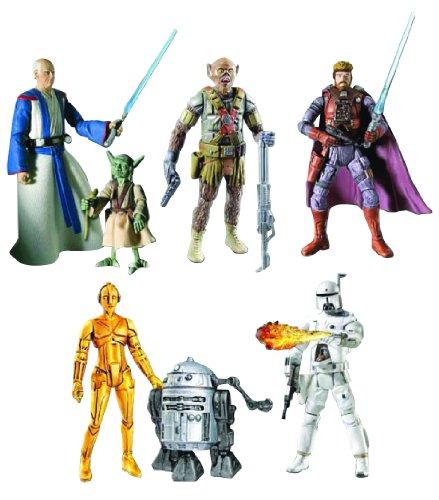 スターウォーズ ベーシック フィギュア/ラルフ・マコーリー セット/セット1<チューバッカ、ハン・ソロ、オビ=ワン、ヨーダ、ボバ、R2-D2、C-3PO>