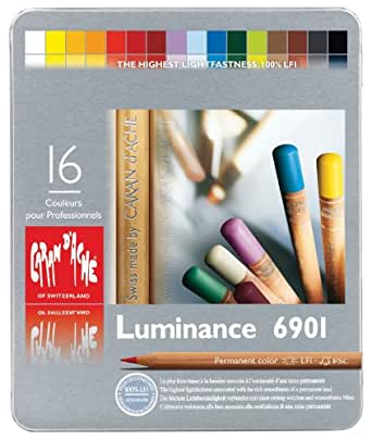 カランダッシュ ルミナンス色鉛筆 16色セット 6901-316 [日本正規品]
