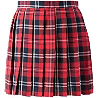 Women School Uniforms plaid Pleated Mini Skirt