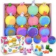 Bath Bombs for Kids with Toys Inside Surprise - Bubble Bath Fizzies Vegan Essential Oil Spa Bath Fizz Balls Ki