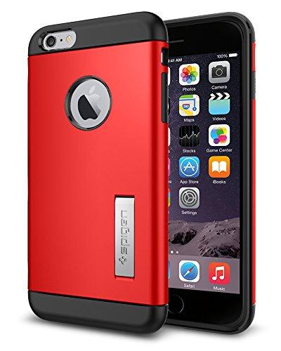 iPhone 6 Plus ケース, Spigen®  スリム+保護力+個性  スリム アーマー Apple iPhone (5.5) アイフォン 6 プラス カバー (国内正規品) (エレクトリック・レッド 【SGP10902】)