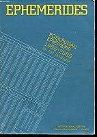 Rosicrucian Ephemeris 1900-2000: At Midnight, 0 Hour Tdt