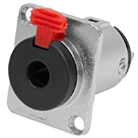 Seismic Audio SAPT233 3-Pole Locking 1/4-Inch Nickel Plated Female Panel Mount Connector - Fits Series D Pattern Holes [並行輸入品]