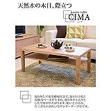 センターテーブル(ローテーブル/リビングテーブル) オーク 長方形 幅100cm 木製/オーク突板 収納棚付き【代引不可】 ds-1748544