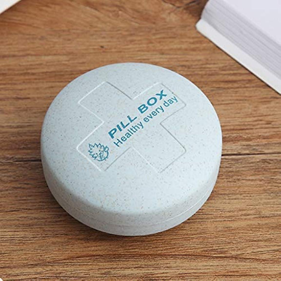 成功した水小学生ピルボックスポータブル調剤小ピルボックス旅行薬ポータブル収納キットミニ密封ピルボックス LIUXIN (Color : Blue, Size : 7.5cm×7.5cm×4cm)