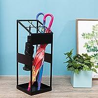 鉄製傘スタンド家庭用コマーシャルホテルロビーコリドール傘収納棚 (色 : ブラック)