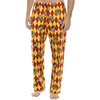 Underboss Men's Harry Potter Hogwarts and Gryffindor Crest Argyle Lounge Pants