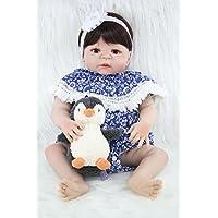 annedoll 22インチLovely Baby GirlフルボディシリコンReborn人形55 cm Lifelike新生児ガールズベビーへの素晴らしい子供誕生日クリスマスおもちゃ