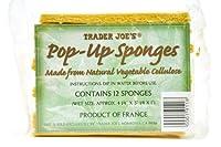Trader Joe's 【トレーダージョーズ ポップアップスポンジ ナチュラル植物繊維 12個入り】【並行輸入商品】