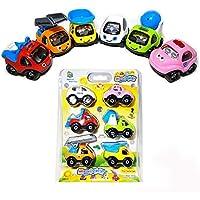 HW幼児用ベビーおもちゃラダー車警察トラックミキサーエンジニアリング車両玩具子供男の子女の子子供用ギフト6pcs
