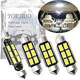 TORIBIO 無極性 車内ランプ 36mm - 37mm 5730 6 SMD LED ルームランプ 6連 ホワイト 4ヶ 12V 車用 LEDバルブ ウエッジタイプ LED電球 ライトデコード高輝度環境省エネランプ 6411 6418