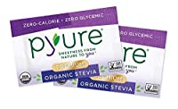 Pyure Premium Organic Stevia Sweetener ピュアプレミアムオーガニックステビア甘味料 1000小袋 [並行輸入品]