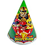 Power Rangers Mighty Morphin Birthday Party Hats – 8 Paper Hats