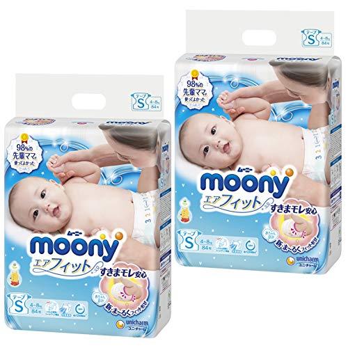 【テープ Sサイズ】ムーニーエアフィット オムツ (4~8k...