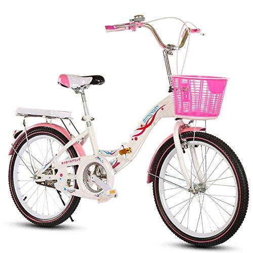 美しい 家- 子供用自転車、6-8-10-14歳の乳母車18インチ/20/22インチの女の子折り畳み...