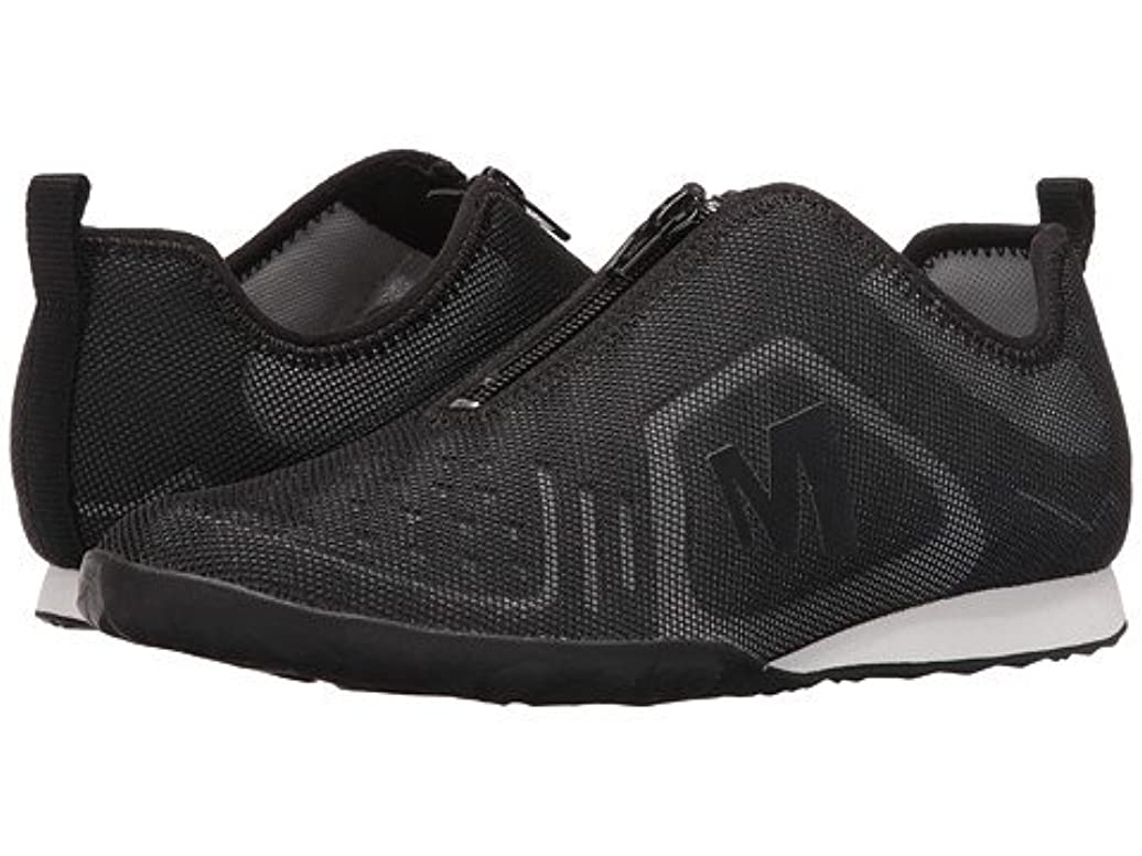 機関美容師繊毛(メレル) MERRELL レディースウォーキングシューズ?スニーカー?靴 Civet Zip Black 5.5 22.5cm M [並行輸入品]