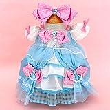 うさももドール 着せ替え人形 服 プリンセスドレス 水色