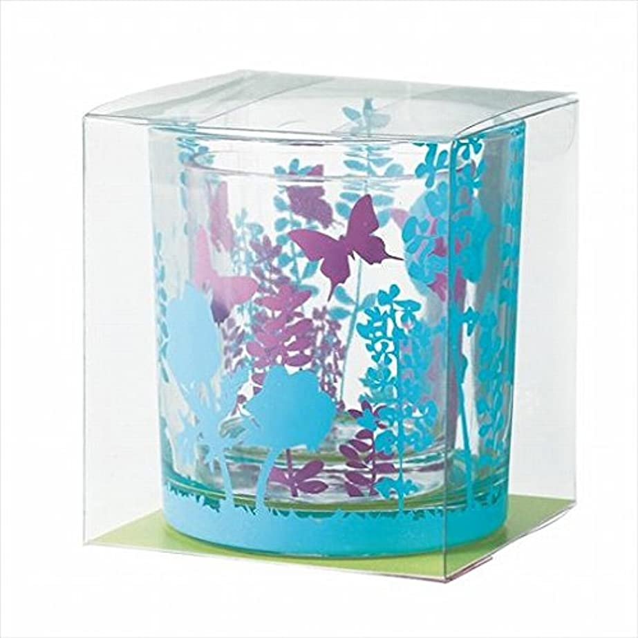 ポーン浮く受けるカメヤマキャンドル(kameyama candle) ブルーミングデュエットグラス 「 クールカラー 」