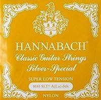 HANNABACH E8155 SLT-Yellow A 5弦 クラシックギターバラ弦 5弦×6本セット