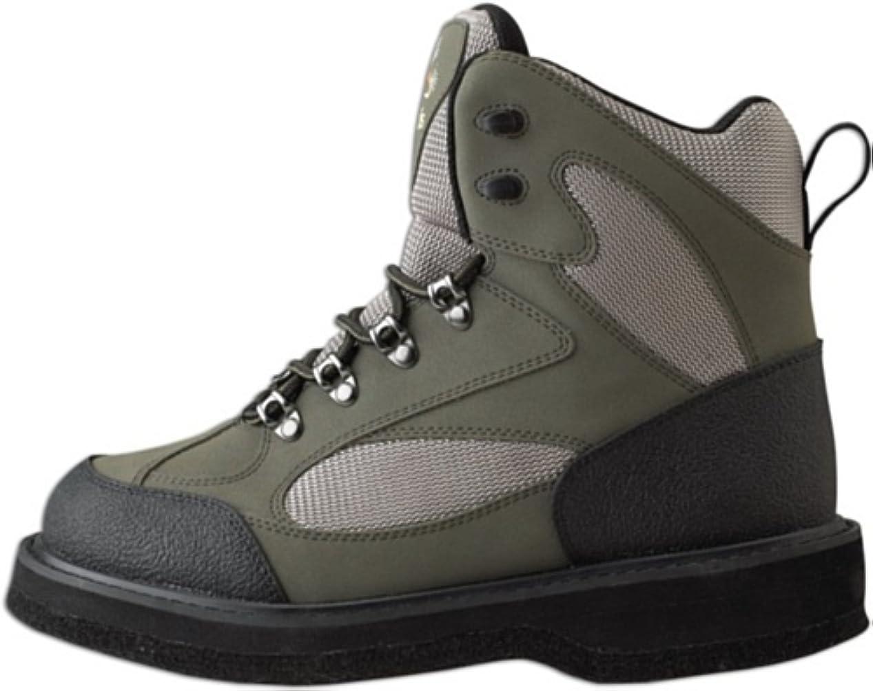 ピュー顧問解釈CaddisメンズNorthern Guide軽量トープと緑フェルトソールWading Shoe