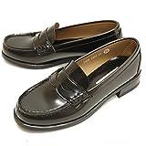 HARUTA ハルタ ローファー レディース 4505 通学 学生 靴 3E (22.0~25.5cm) 22.0 クロ