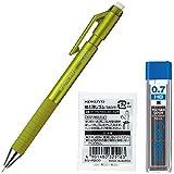 コクヨ シャープペン 鉛筆シャープ TypeS 0.7mm 黄緑 本体+替芯+替消しゴムセット