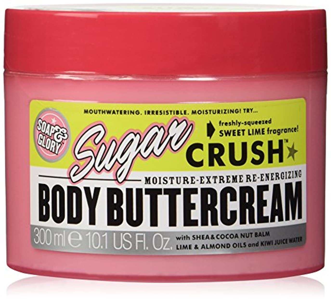 運動する従事した険しいSoap And Glory Sugar Crush Moisture Extreme Body Shea & Cocoa Buttercream 300ml
