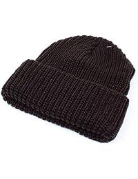 (ニューヨークハット) NEW YORK HAT ニット帽 キャップ 無地 シンプル ユニセックス【チャンキーカフ】02.ブラウン