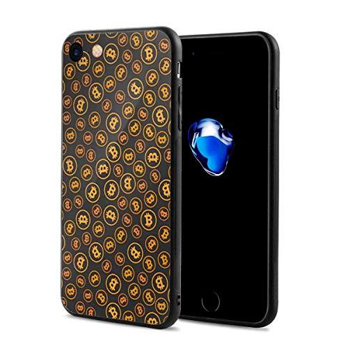 スマホケース ビットコイン柄 金 スマホカバー Iphone7 Iphone8 対応 すり傷防止 耐衝撃性