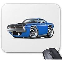 Zazzle 1970Cuda AARブルー車マウスパッド
