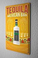 ブリキ看板ノスタルジックなアルコールレトロテキーラ男性プライベートスペース壁の装飾