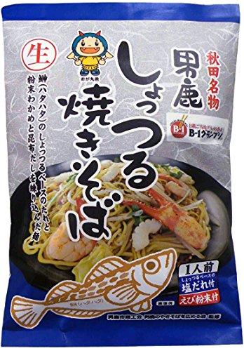 [4食]八郎めん 男鹿しょっつる焼きそば(生麺) 1食入