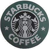 日本未発売 STAR BUCKS スターバックス 1992ロゴ マウスパッド 直径22センチ