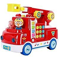 Pororo Fire Truck Rescue play Toy Car with melody Sound & Toy Sanitizer 30ml Pororo Fire Truckレスキュープレイメロディサウンド&トイサニタイザー30ml [倂行輸入]