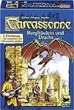 カルカソンヌ拡張セット 王女とドラゴン (Carcassonne: Burgfräulein & Drache) Für 2 - 6 Spieler Nur zusammen mit Carcassone spielbar ボードゲーム