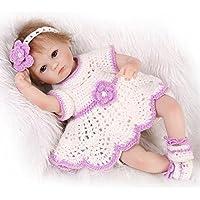 ソフトシリコン赤ちゃん女の子Rebornベビー人形42 cm Real Look Lifelike赤ちゃんおもちゃEyes Open