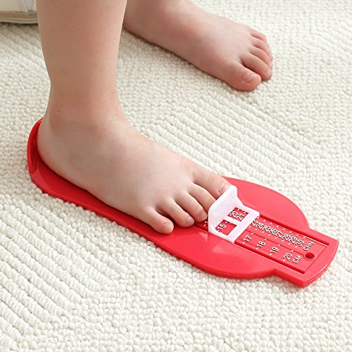 Homeland 足測定ツール 赤ちゃん足寸法計 フットメジャー 靴測定器