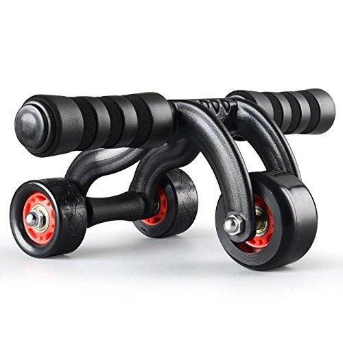 Instagen 腹筋ローラー アブホイールローラー スリムトレーナー エクササイズウィル 筋トレ 三輪 超静音 マット付き 安定スタンド式ストッパー付き